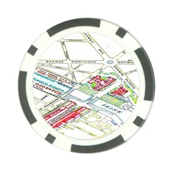 Paris Map Poker Chip Card Guard
