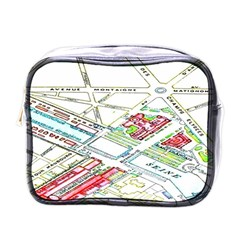 Paris Map Mini Toiletries Bags