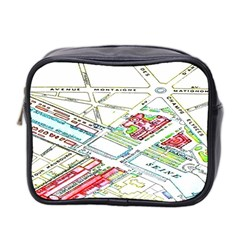 Paris Map Mini Toiletries Bag 2 Side