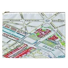 Paris Map Cosmetic Bag (xxl)