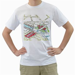 Paris Map Men s T Shirt (white)