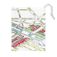 Paris Map Drawstring Pouches (extra Large)