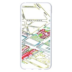 Paris Map Samsung Galaxy S8 Plus White Seamless Case