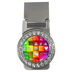 Colorful 3d Social Media Money Clips (cz)  by BangZart