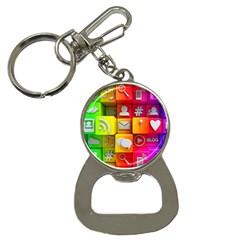 Colorful 3d Social Media Button Necklaces