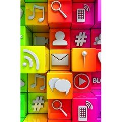 Colorful 3d Social Media 5 5  X 8 5  Notebooks