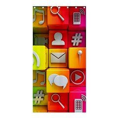 Colorful 3d Social Media Shower Curtain 36  X 72  (stall)  by BangZart