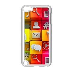 Colorful 3d Social Media Apple Ipod Touch 5 Case (white)