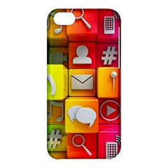 Colorful 3d Social Media Apple Iphone 5c Hardshell Case