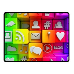 Colorful 3d Social Media Double Sided Fleece Blanket (small)  by BangZart