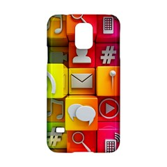 Colorful 3d Social Media Samsung Galaxy S5 Hardshell Case