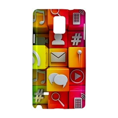 Colorful 3d Social Media Samsung Galaxy Note 4 Hardshell Case