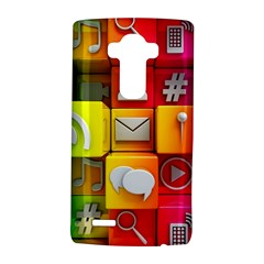Colorful 3d Social Media Lg G4 Hardshell Case