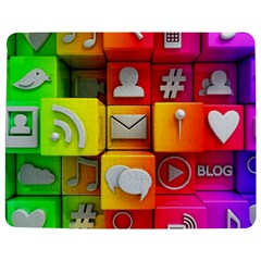 Colorful 3d Social Media Jigsaw Puzzle Photo Stand (rectangular)