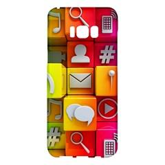 Colorful 3d Social Media Samsung Galaxy S8 Plus Hardshell Case
