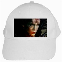 Digital Fantasy Girl Art White Cap
