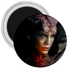 Digital Fantasy Girl Art 3  Magnets