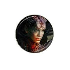 Digital Fantasy Girl Art Hat Clip Ball Marker (4 Pack)