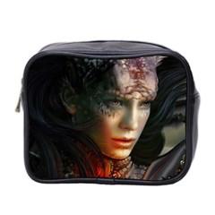 Digital Fantasy Girl Art Mini Toiletries Bag 2 Side