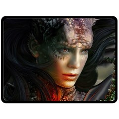 Digital Fantasy Girl Art Fleece Blanket (large)  by BangZart