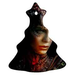 Digital Fantasy Girl Art Christmas Tree Ornament (two Sides)