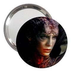 Digital Fantasy Girl Art 3  Handbag Mirrors