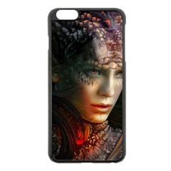 Digital Fantasy Girl Art Apple Iphone 6 Plus/6s Plus Black Enamel Case by BangZart