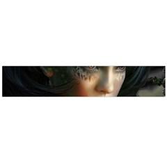 Digital Fantasy Girl Art Flano Scarf (large)