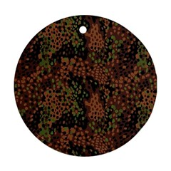 Digital Camouflage Round Ornament (two Sides) by BangZart