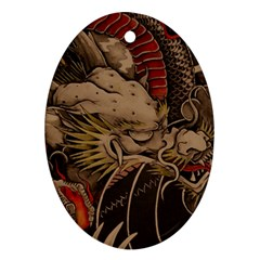 Chinese Dragon Oval Ornament (two Sides) by BangZart