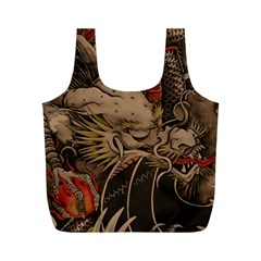 Chinese Dragon Full Print Recycle Bags (m)