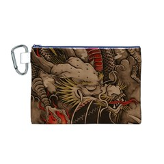 Chinese Dragon Canvas Cosmetic Bag (m) by BangZart
