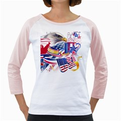 United States Of America Usa  Images Independence Day Girly Raglans