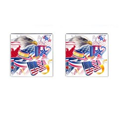 United States Of America Usa  Images Independence Day Cufflinks (square)