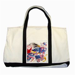 United States Of America Usa  Images Independence Day Two Tone Tote Bag