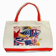 United States Of America Usa  Images Independence Day Classic Tote Bag (red) by BangZart