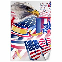 United States Of America Usa  Images Independence Day Canvas 24  X 36