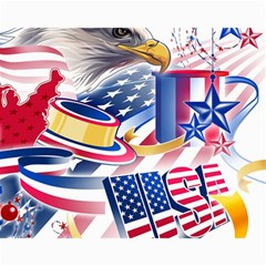 United States Of America Usa  Images Independence Day Canvas 11  X 14