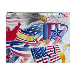United States Of America Usa  Images Independence Day Cosmetic Bag (xl)
