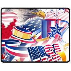 United States Of America Usa  Images Independence Day Fleece Blanket (medium)
