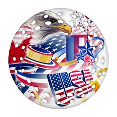 United States Of America Usa  Images Independence Day Ornament (round Filigree)