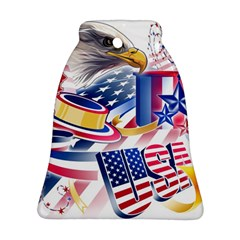United States Of America Usa  Images Independence Day Ornament (bell) by BangZart
