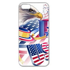 United States Of America Usa  Images Independence Day Apple Seamless Iphone 5 Case (clear)