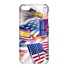 United States Of America Usa  Images Independence Day Apple Ipod Touch 5 Hardshell Case With Stand