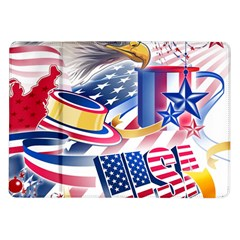 United States Of America Usa  Images Independence Day Samsung Galaxy Tab 10 1  P7500 Flip Case by BangZart