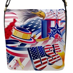 United States Of America Usa  Images Independence Day Flap Messenger Bag (s) by BangZart