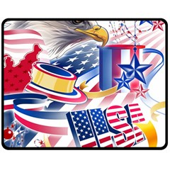 United States Of America Usa  Images Independence Day Double Sided Fleece Blanket (medium)