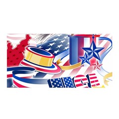 United States Of America Usa  Images Independence Day Satin Wrap