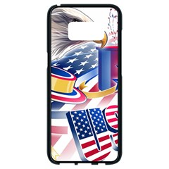 United States Of America Usa  Images Independence Day Samsung Galaxy S8 Black Seamless Case