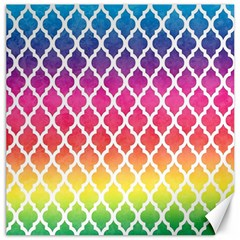 Colorful Rainbow Moroccan Pattern Canvas 12  X 12